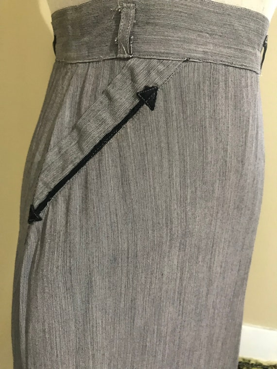 1940s western pencil skirt - image 4