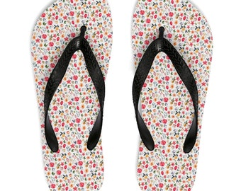 9a506f659 Ladies Original Floral Design Flip-Flops