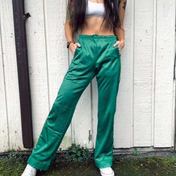 70s Green Track pants