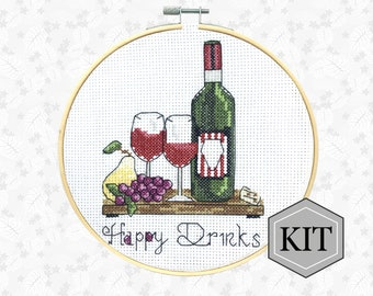 Pig Cross Stitch Kit Farm Animal Embroidery Pattern Funny Counted Cross Stitch Kit by RTO /'Naughty Pig/'