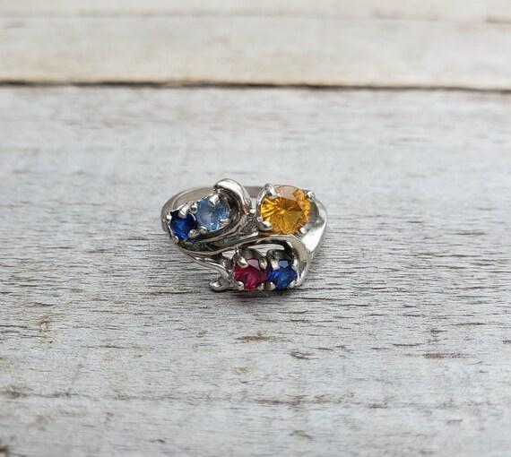 10K Multi Gemstones Ring