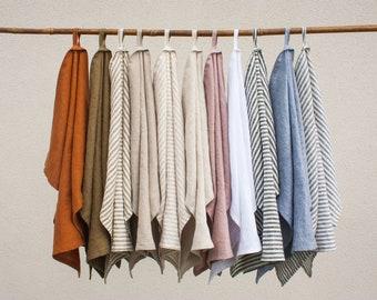 Linen Tea Towel - Linen Kitchen Towel - Linen Teatowel - Linen Towel - Kitchen Towel - Tea Towel - Linen Dish Towel Towel with Hook