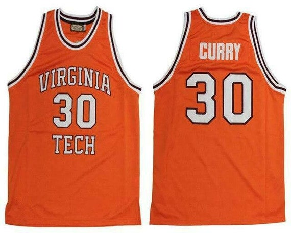 New 30 Dell Curry Virginia Tech College Retro Basketball Etsy