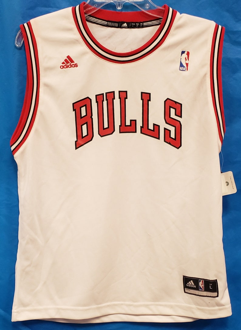 new arrival c660f 9b8d9 New NBA Chicago Bulls White Jersey