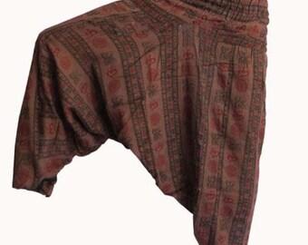 b52ef58be9 Indian Women Hippie Aladdin Yoga Ali Pants Gypsy Genie Baba Harem Trousers  Baggy