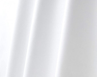 """Fire Resistant 3 Pass 54/"""" Blackout Curtain Lining Fabric White Per Metre!"""