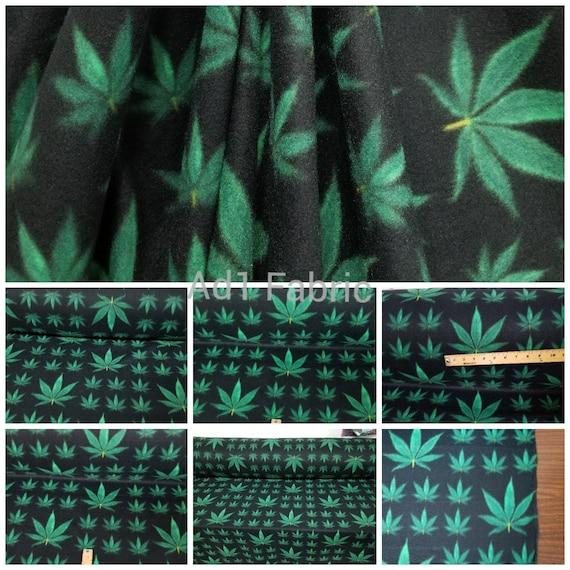 Multi marijuana leaf Fleece Polar By The Yard 60 Wide Blanket jackets clothes quilts