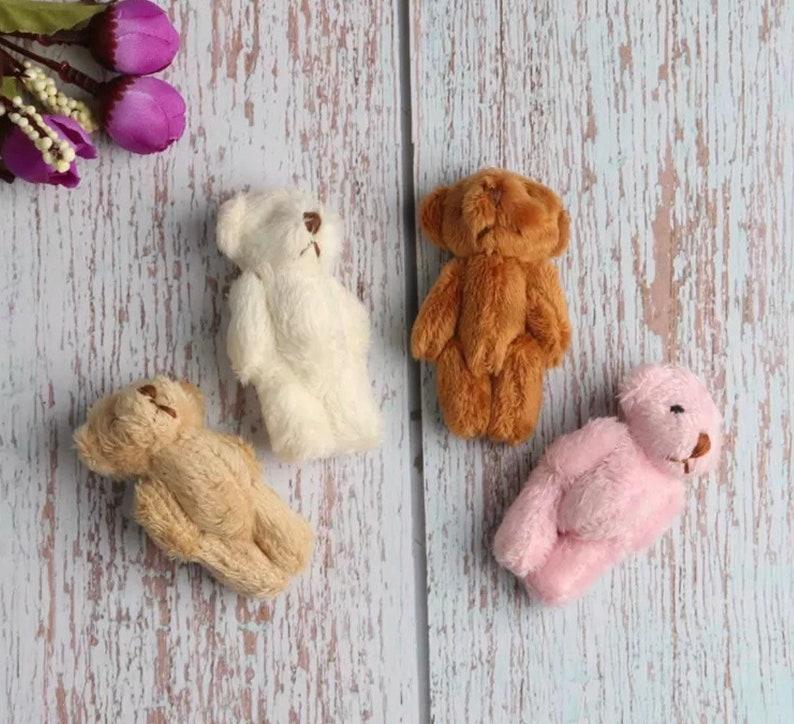 miniature Bear for BJD dolls Blythe clothes Blythe Starter Kit Custom Blythe Plush Bear toy Customize Blythe Blythe Accessories