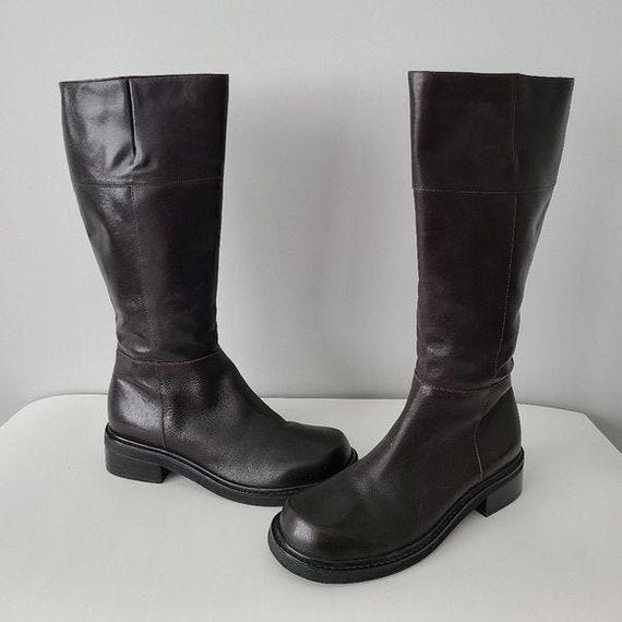Vintage 90s/Y2K Eddie Bauer Mahogany Brown Leather