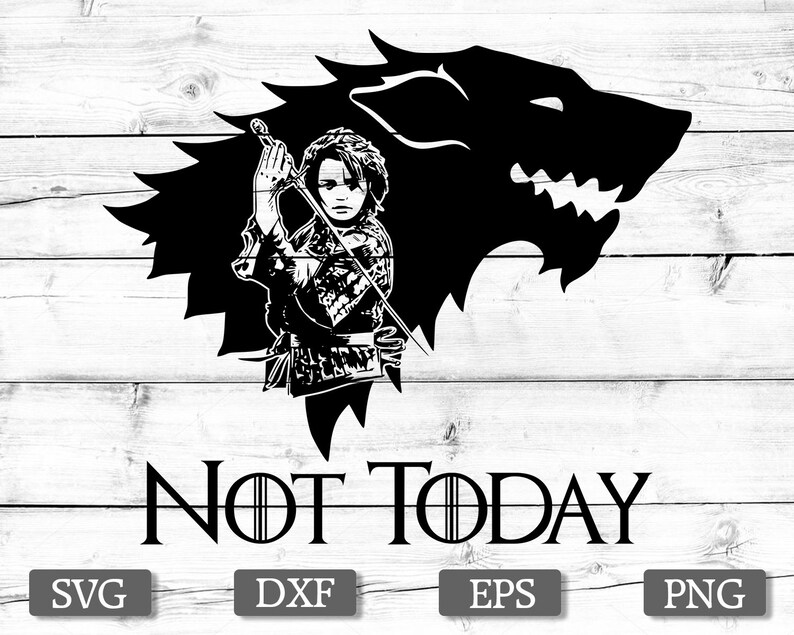 Game Of Thrones Svg Silhouette Stencil File Cricut Vector Cut File Cutting Arya Svg