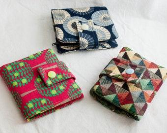 a7dec746f Mini monedero/cartera de tela con espacio para tarjetas y billetes