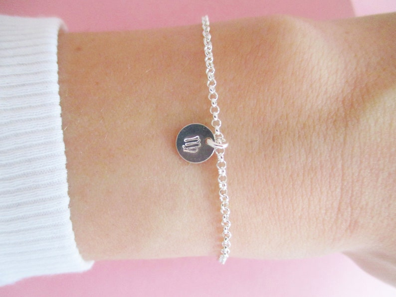 Zodiac Bracelet 925 Sterling Silver Personalized Gold Rose Gold Capricorn Aquarius Pisces Aries Gift Horoscope
