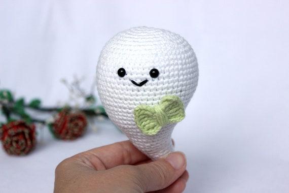 Halloween Ghost crochet pattern, Amigurumi ghost decor for halloween, Cute ghost crochet halloween