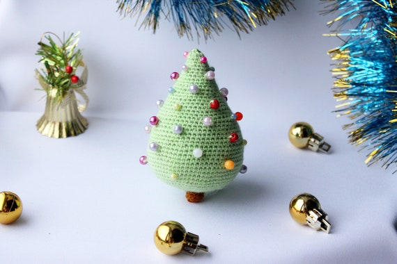 Christmas crochet tree pattern, Xmas trees pattern, New year toys