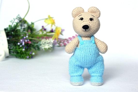 Amigurumi teddy bear pattern crochet toy, Bear crochet pattern, Stuffed teddy bear, Handmade bear doll, Fathers day ideas