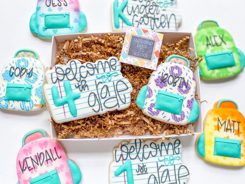 Back to School Cookies  First Day of School Cookie Gift Box image 0