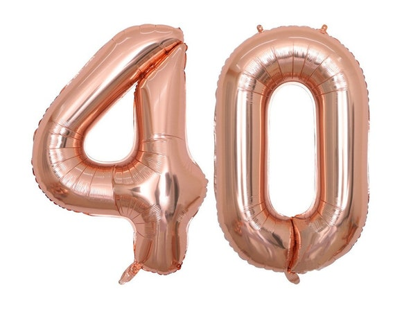 """55th Birthday Party 40/"""" Foil Balloon HeliumAir Decoration Age 55 Rose Gold lite"""
