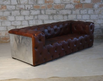 Incredible Leather Sofa Set Etsy Gmtry Best Dining Table And Chair Ideas Images Gmtryco