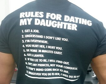 where can i buy a rules for dating my daughter t shirt