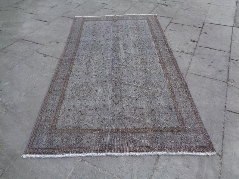 Oversized Rug,Overdyed Vintage Rug,Hand Made Turkish Big Carpet,Low Pile Living Room Rug,Boho Dining Room Rug,Huge Rug 6/' 9/'/' x 3/' 8/'/'  K248