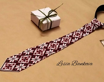 Gift for Him Tie Ukrainian Classic tie with embroidery for men Bow Men/'s embroidered tie Embroidered tie Ukrainian styleValentine/'s Day