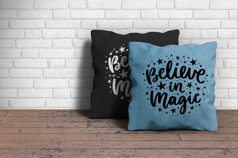SVG /& DXF File  Magical Witches Believers Halloween Silhouette Vector Cut Files Stars and Constellations Believe in Magic Word Art PNG