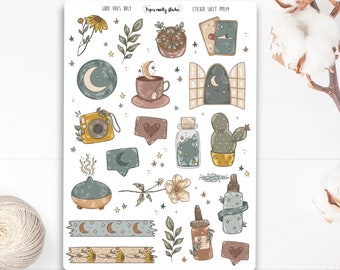 Good Vibes Only Sticker Sheet, Bujo Stickers, Planner Stickers, Bullet Journaling Stickers