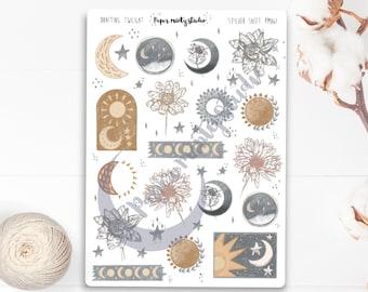 Twilight Sticker Sheet, Bujo Stickers, Planner Stickers, Bullet Journaling Stickers