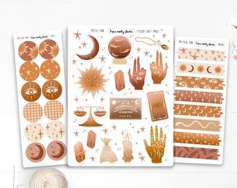 Mystic Pink Sticker Sheet, Bujo Stickers, Planner Stickers, Bullet Journaling Stickers