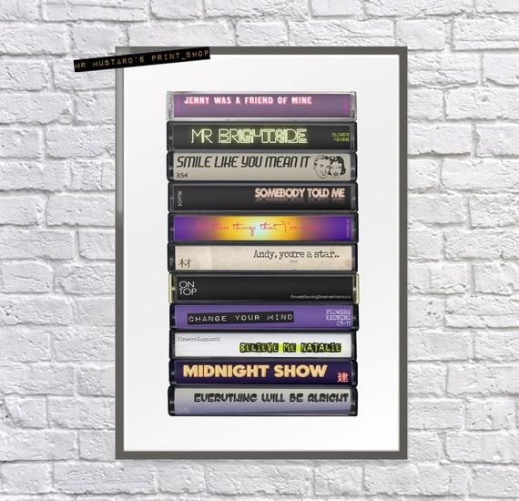 Framed Original Art Album Print Lyrics Gift The Killers Poster Hot Fuss