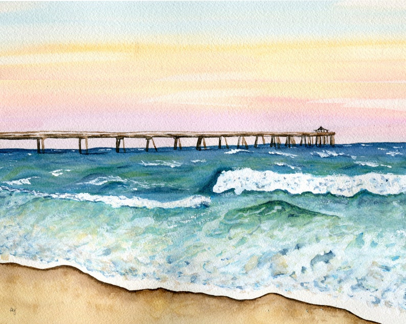 Florida Sunset, watercolor print
