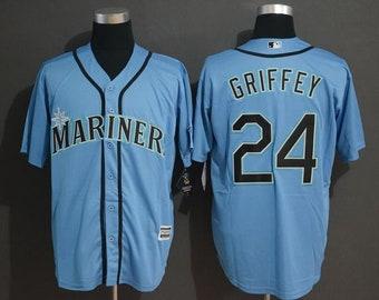 df9a57663 Men's Seattle Mariners Ken Griffey Jr. Majestic Northwest Green Alternate Cool  Base Player Jersey