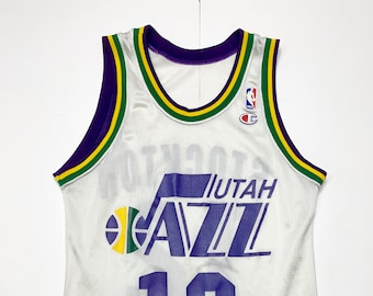 95a537898 NBA Champion Jersey John Stockton Utah Jazz Vintage sz 36 (Men s Small)