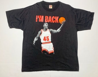 b1244a026e8 NBA Michael Jordan 45 Vintage Chicago Bulls I'M BACK Shirt Sz. XL