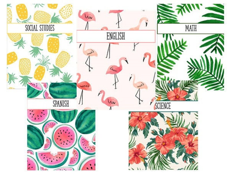 Tropical Binder Covers image 0
