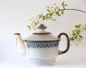 Scandinavian Teapot. Danish Soholm ROTNA Tea pot by Arne Finne. Danish design. Mid century modern pottery. modern stoneware