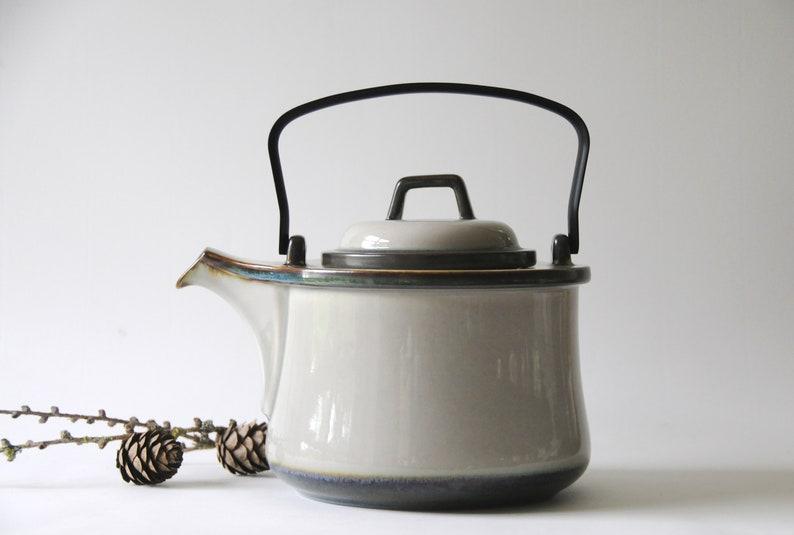 Scandinavian IHQ Tea pot Mid century Modern Gift for her Scandinavian Teapot Quistgaard TEMA Stoneware Danish Design Vintage collectible