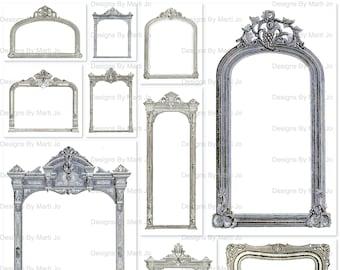 Vintage Clip Art Frames 1   Vintage Decorative Frames   Instant Download   Commercial Use OK