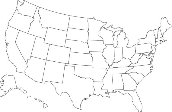 Printable USA Map | Downloadable United States Map