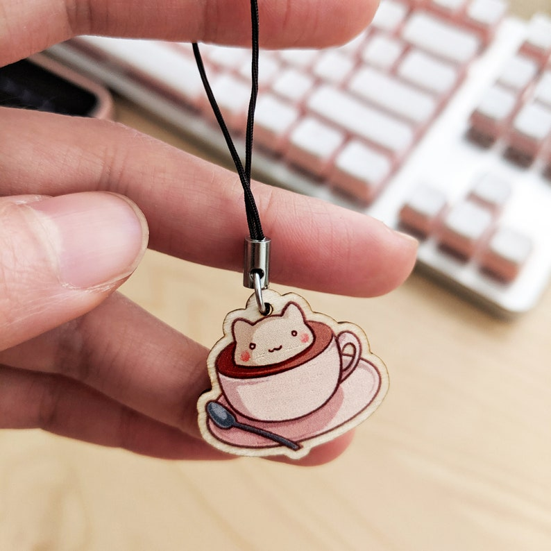 Gloss Finish 1 Cat-puccino Wooden Charm