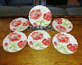 Made in Japan 5 pcs. Miyako Dinner Plates Dishwasher Stoneware Oven-To-Tableware Microwave Safe