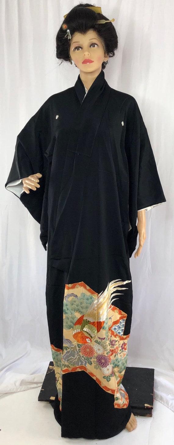 Tomesode/ Japanese Kimono/ Vintage Kimono/ 28730 - image 3