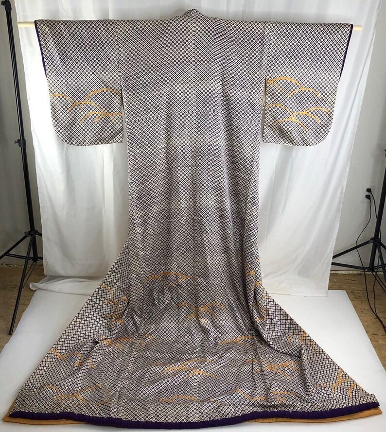 Japanese Kimono Vintage Silk KimonoCosplay Tomesode Stage CostumeJapanese textile 28552