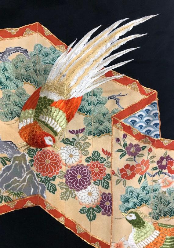 Tomesode/ Japanese Kimono/ Vintage Kimono/ 28730 - image 1