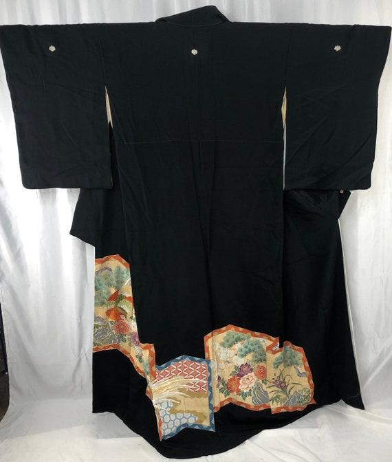 Tomesode/ Japanese Kimono/ Vintage Kimono/ 28730 - image 2
