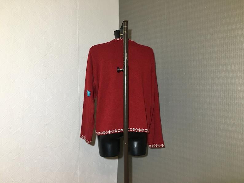 Ugly Xmass Jacket Knit Jumper Warm Cotton Unisex Sweater Button up Santa Claus Jacket Knitted Winter Ski Jacket Round Neckline Size Large