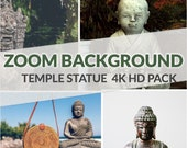 Zoom Background Pack - High Quality Zoom Background (Buddha Temple Statue)