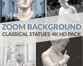 Zoom Background Pack - High Quality Zoom Background (Greek Statue)