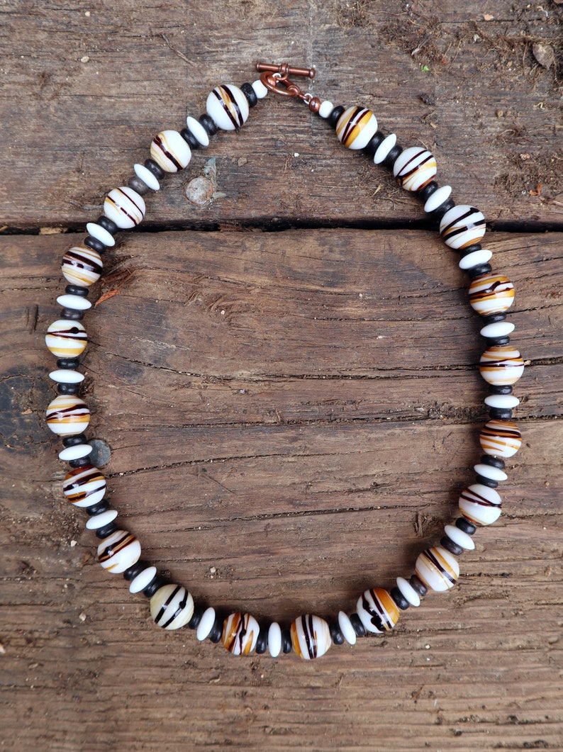 West African Glass Trade Bead Necklace
