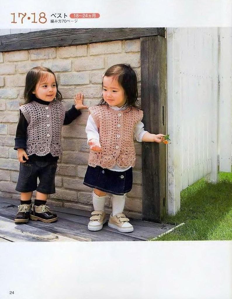 Japanese Craft Pattern E-Book of Baby Kids wear Girl Boy pullover dress sweater cardigan hat blanket top vest tunic Knitting /& crochet